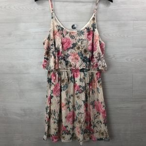 WET SEAL Floral Lace Dress Spaghetti Strap